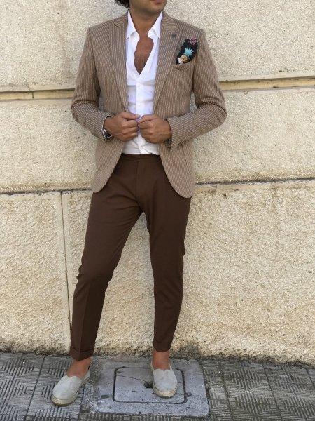 Giacca uomo, a due bottoni - Colore cammello - Gogolfun.it