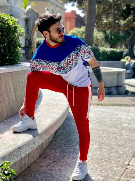 Pantatuta uomo - Pantalone rosso - Pantaloni sportivi - Gogolfun.it