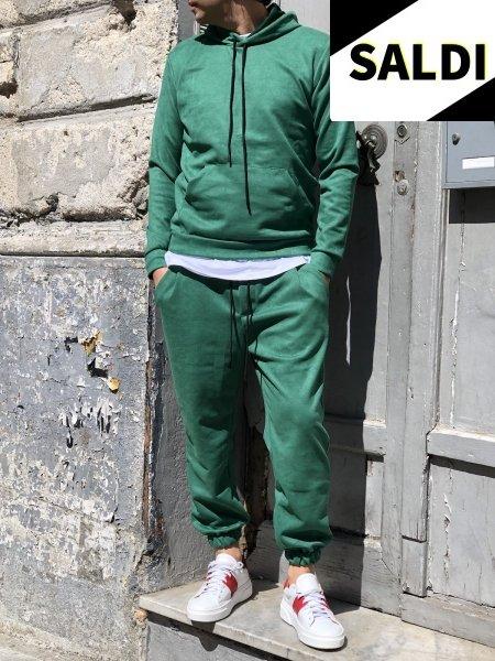 Tuta uomo verde, slim - Abbigliamento uomo gogolfun.it