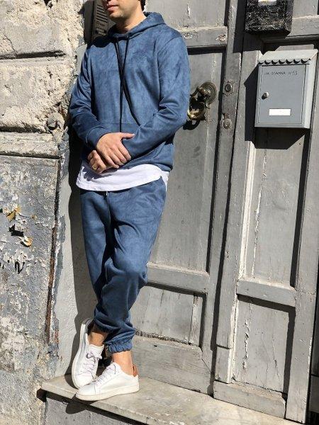 Tuta uomo, color jeans - Abbigliamento uomo gogolfun.it
