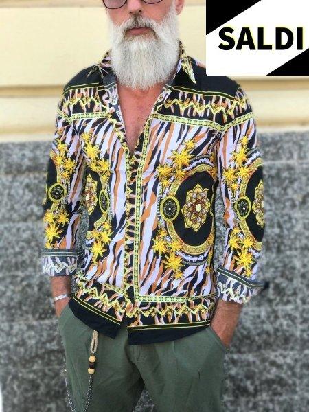 Camicia uomo fantasia - Particolare - Manica lunga - Abbigliamento uomo Gogolfun.it