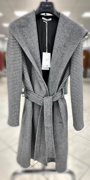 Cappotto, grigio con cappuccio  - Cappotto donna