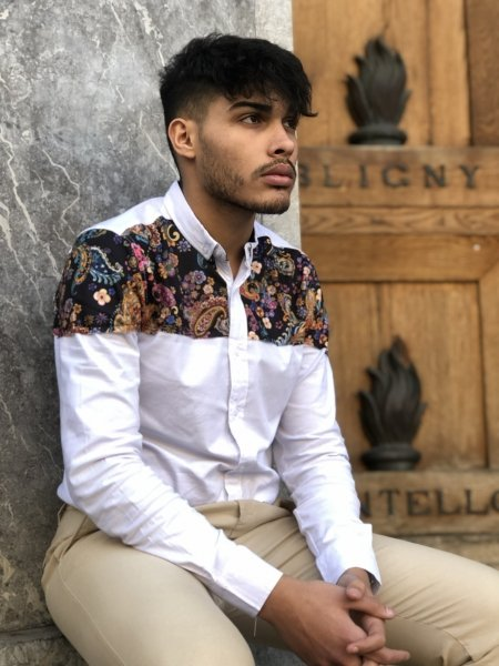 Camicia bianca uomo - Camicie uomo -Gogolfun.it