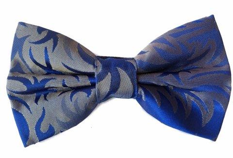Papillon uomo - Papillon grigio e blu - Papillon fantasia - Gogolfun.it