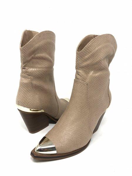 Stivali texani - beige chiaro - Texani corti - Scarpe donna gogolfun.it