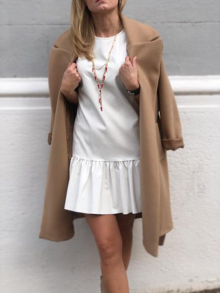 Vestito corto - bianco - Vestito in ecopelle - Abito corto bianco - Vestiti donna gogolfun.it
