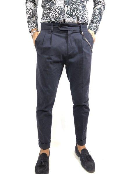 Spodnie męskie, czarne - Chinos - Paul Miranda - Made in Italy - Odzież męska - Gogolfun.pl