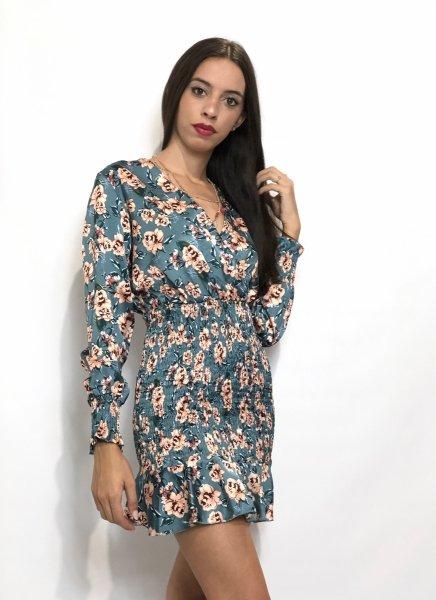 Elegancka krótka sukienka w kwiaty - Giorgia - Sklep gogolfun.pl