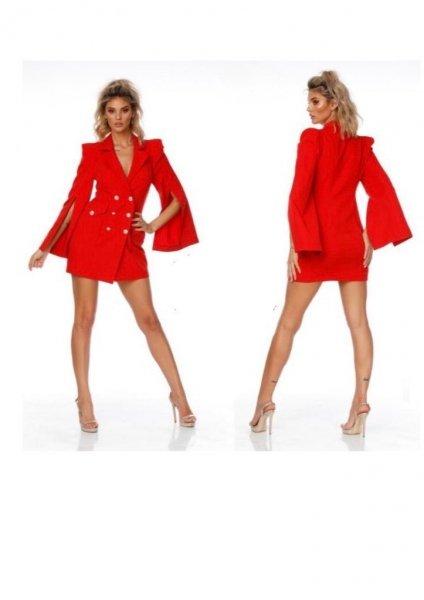 Vestito blazer, rosso - Elegante - Vestiti corti - Abbigliamento online - Gogolfun.it