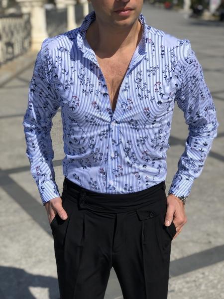 Camicia uomo - Fantasia floreale - Slim - Camicia maniche lunghe