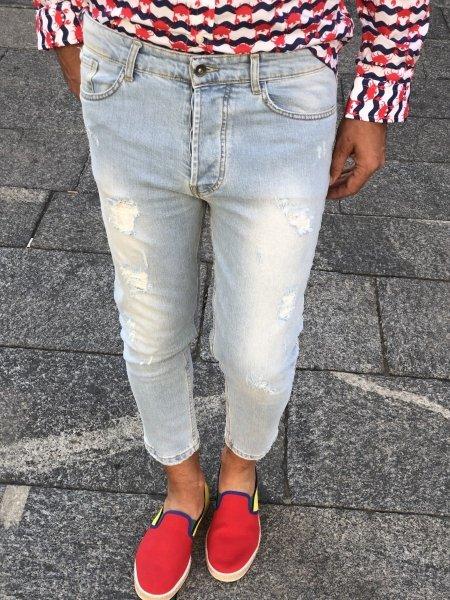 Jeans strappati chiari - Unisex - Gogolfun.it
