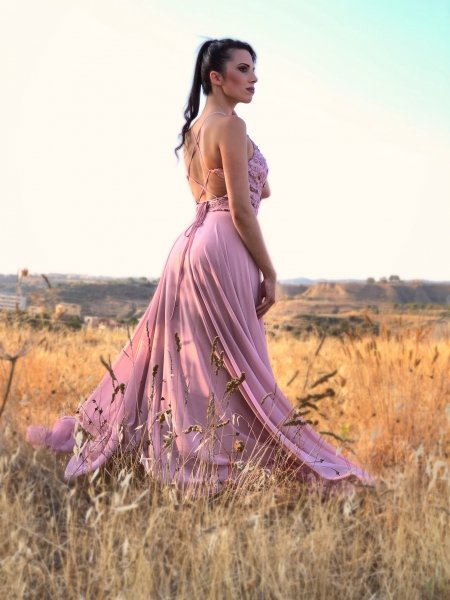 Abito da cerimonia lungo rosa - Abiti da cerimonia gogolfun.it