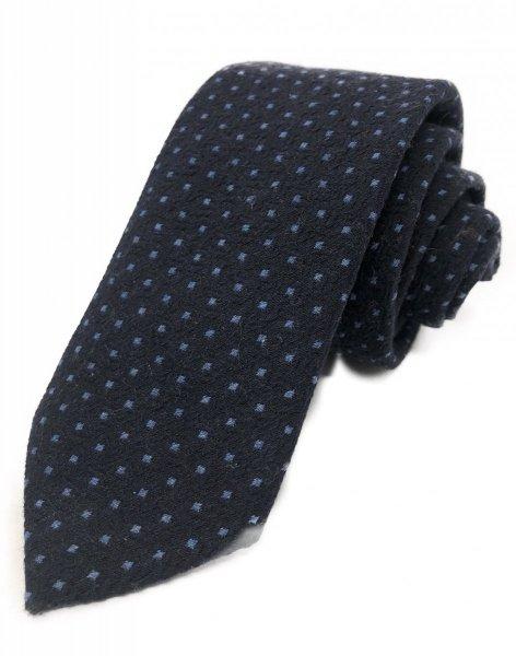 Cravatta blu - Con pois - Cravatte In mano lana - Gogolfun.it