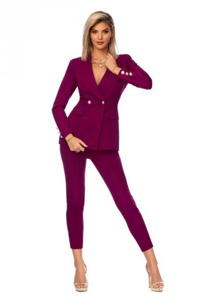 Tailleur giacca e pantaloni eleganti -  Viola - Abbigliamento on line - Gogolfun.it