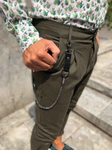 Pantaloni verdi con catena - Pantaloni online - Gogolfun.it