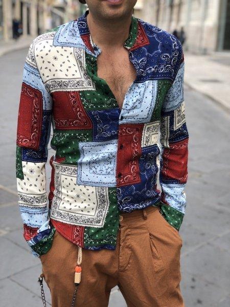 Camicia uomo particolare, disegno bandana