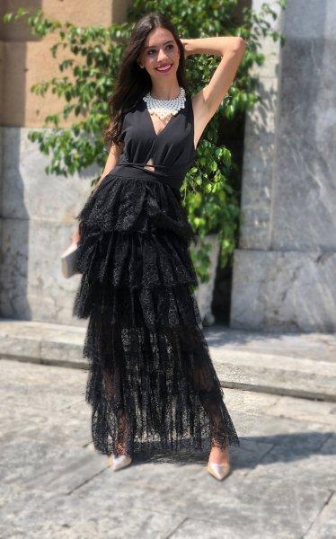 Abito nero - Elegante - Donna - Da Cerimonia