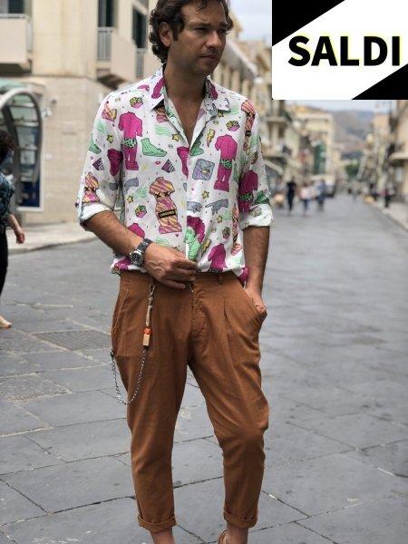 Camicia uomo particolare - Fantasia retro