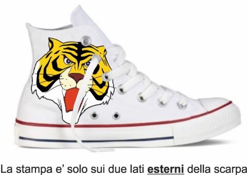 Sneakers - Tiger man - Simil Converse - Gogolfun.it