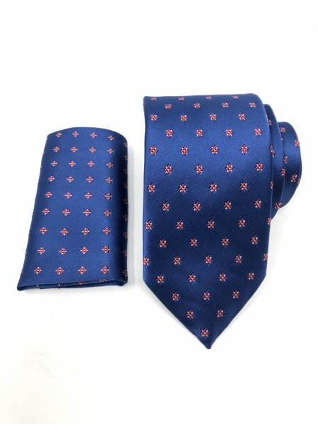 Cravatte uomo - Blu - Cravatta abbinata alla pochette - Gogolfun.it
