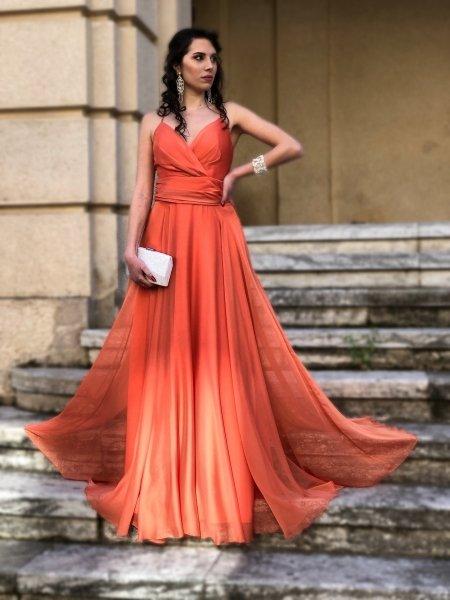 Vestito da sera, lungo - Schiena scoperta - Vestiti eleganti - Gogolfun.it