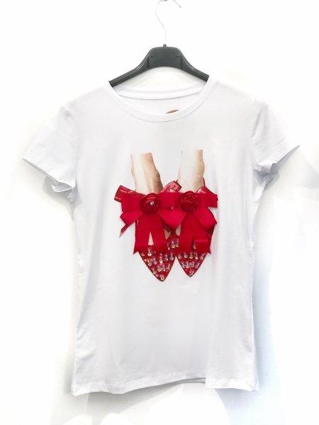 T-shirt donna - Bianca - Magliette bon ton - Gogolfun.it