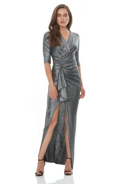 Vestito lungo elegante, argento - Abito da cerimonia argento - Vestiti eleganti gogolfun.it