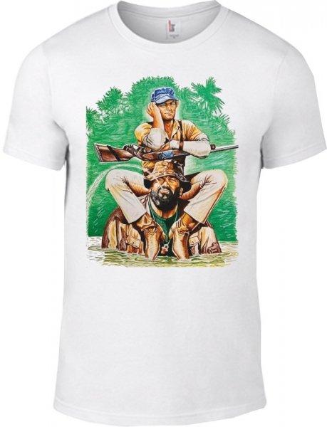 T shirt Bud Spencer - Bianca - Mezza Manica - Gogolfun.it