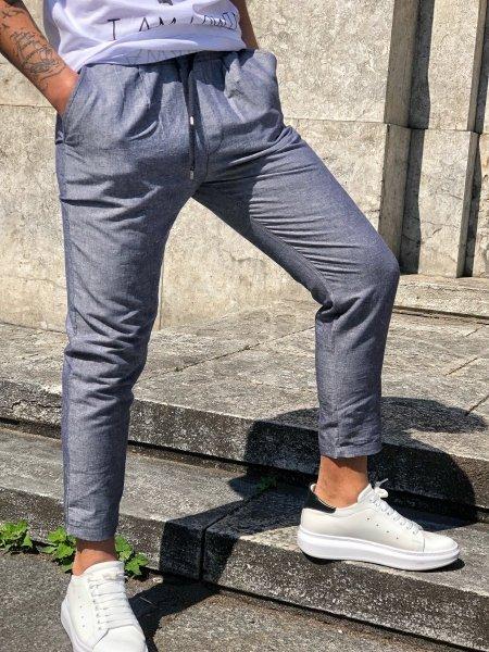 Pantaloni uomo - Lino - Made in Italy - Gogolfun.it