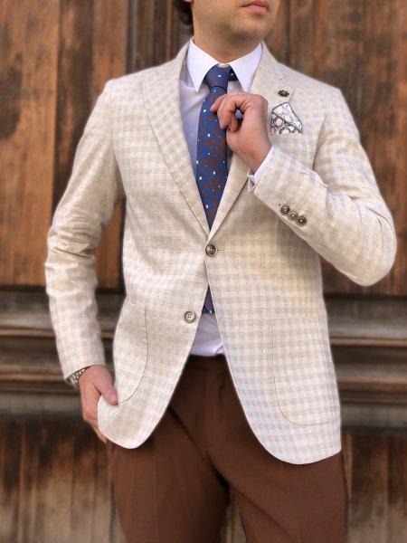 Giacca uomo particolare, beige - Paul Miranda