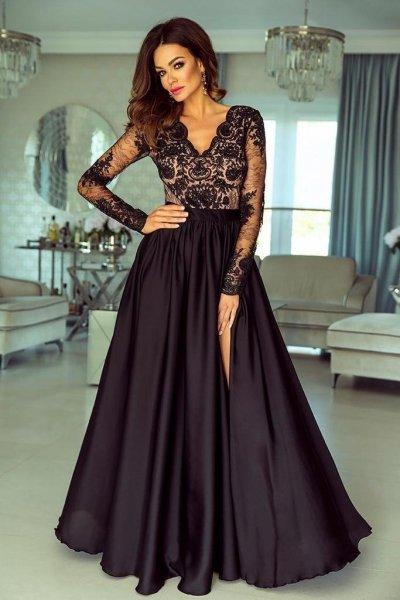 Vestito da cerimonia, lungo - Abito elegante nero - Negozio online gogolfun.it