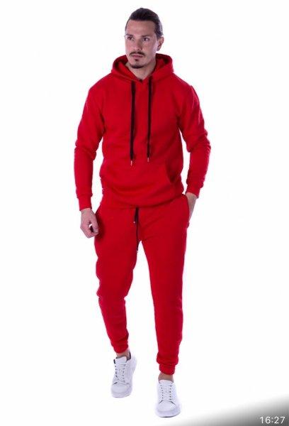 Tuta uomo, rossa - Tuta, con cappuccio rossa - Gogolfun.it