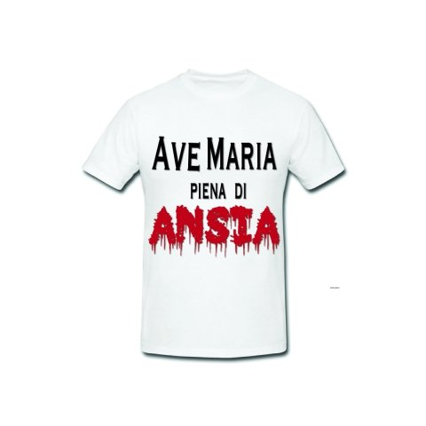 T shirt - Divertenti - Maglietta Ave Maria - Gogolfun.it