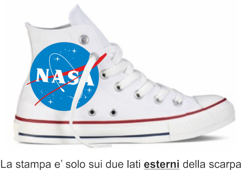 Sneakers bianca - Alta - Nasa - Scarpe Gogolfun.it
