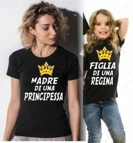 Maglietta mamma e figlia - Nere - Gogolfun.it
