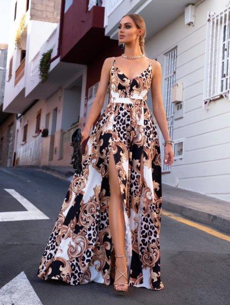 Vestito lungo elegante - Con spacchi profondi - Vestiti donna gogolfun.it
