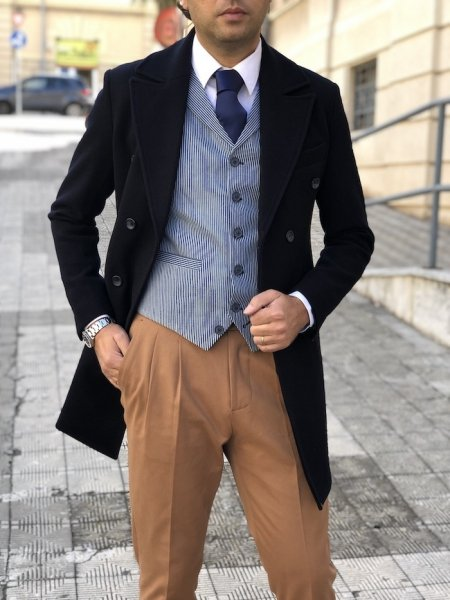 Gilet - Panciotto, righe blu