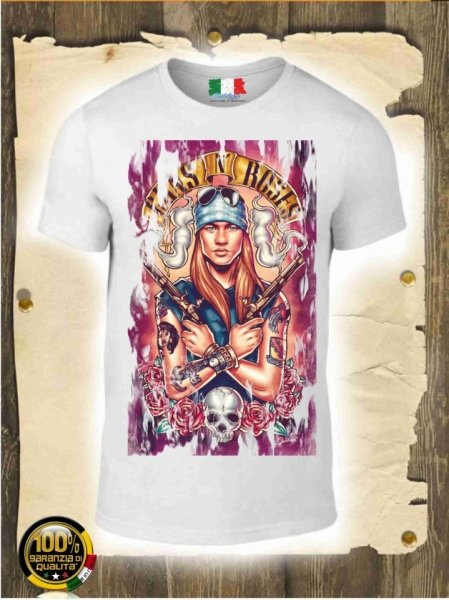 T shirt -Gun's and Roses -Gogolfun.it