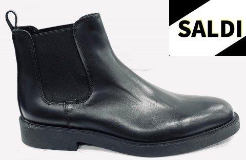 scarpe uomo, nere - modello stivaletto con elastico - Gogolfun.it