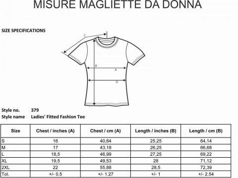 Magliette divertenti - Misure t shirt donna - Gogolfun.it