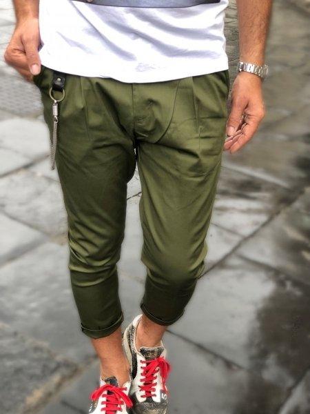 Pantaloni verdi - Slim - Gogolfun.it