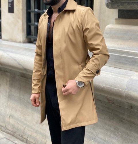 Trench uomo, beige - Impermeabile cammello - Gogolfun.it