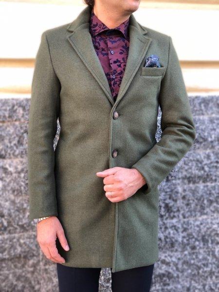 Zielony Płaszcz męski