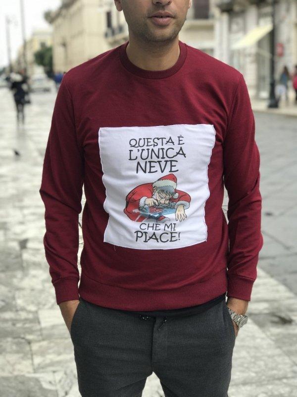 Felpa Natalizia - L'unica neve! - Babbo Natale - Shop Gogolfun.it