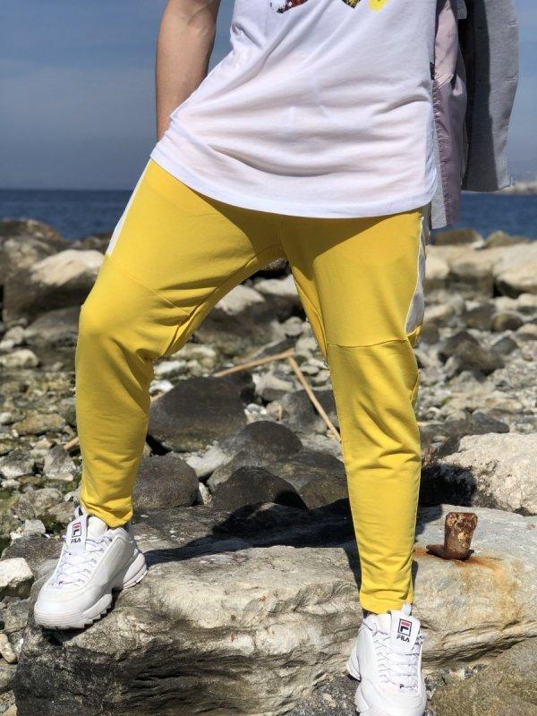 Pantalone tuta - Pantalone uomo giallo - Pantatuta - Gogolfun.it