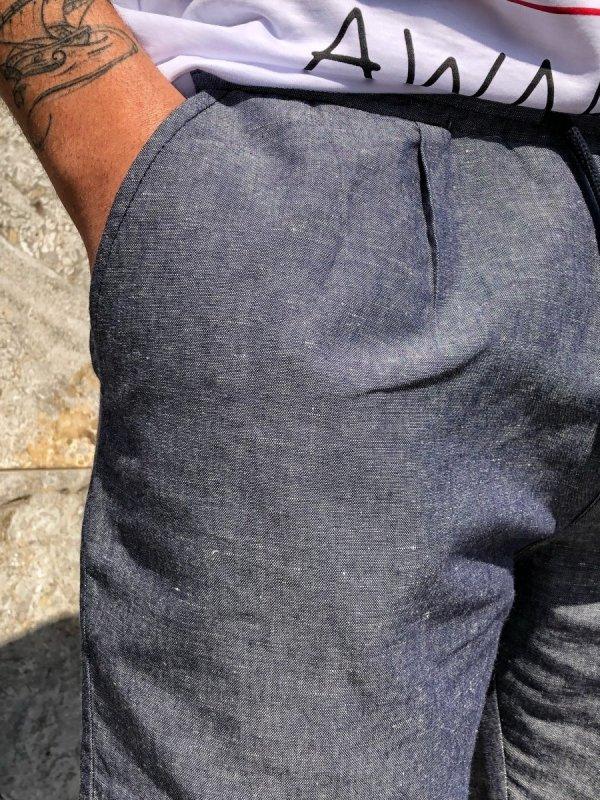Pantaloni in lino - Celeste - Paul Miranda - Gogolfun.it
