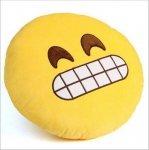 Poduszka Dekoracyjna  Emotki Emoji - wyszczerzony