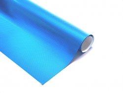 Folia rolka carbon 4D błękitna 1,52x30m