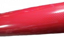 Folia rolka carbon 5D czerwona 1,52x18m