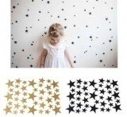 Naklejki ścienne gwiazdki gwiazdy czarne 42szt